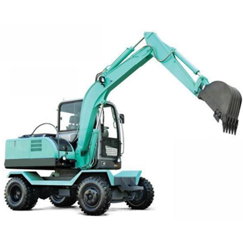轮胎式挖掘机 75小型轮式挖掘机生产厂家 新款轮式挖掘机设备价格