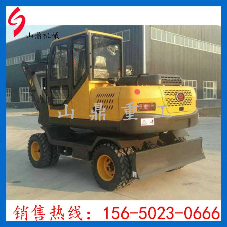 山鼎专供 轮式挖掘机 挖掘机厂家 质量可靠 欢迎选购