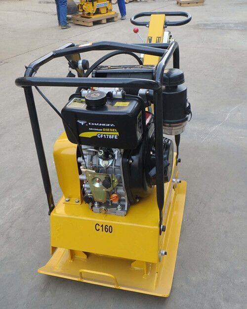 浩鸿振动平板夯 手扶式地面夯土机汽油柴油两种选择
