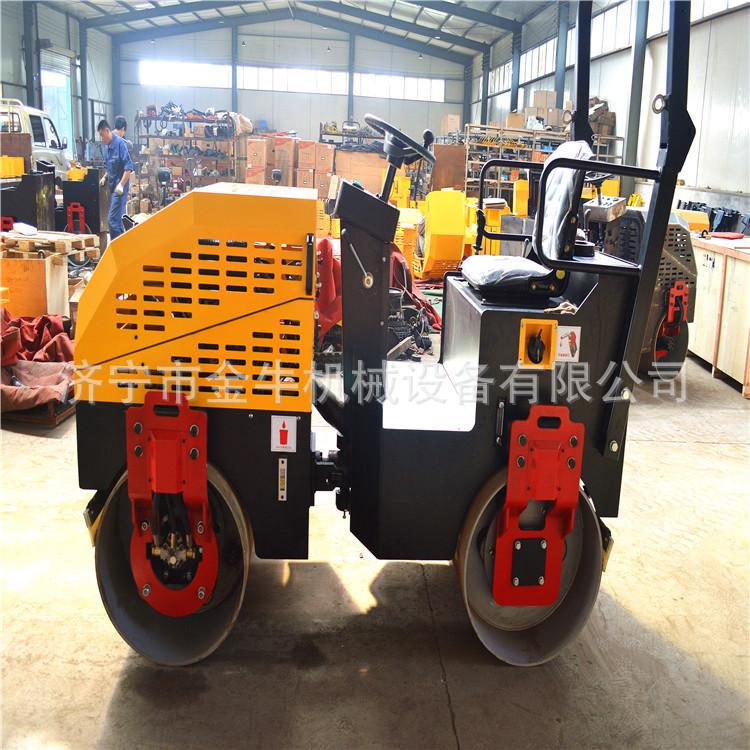 座驾式小型全液压双钢轮1吨压路机 碾压草坪用双钢轮压路机
