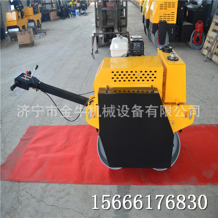 手扶式单轮压路机 小型液压地面碾压机 一吨全液压压路机