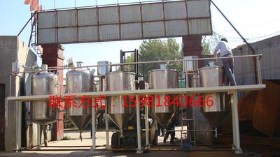 生产厂家承接精炼油设备车间 日产10吨花生油车间 花生油精炼设备