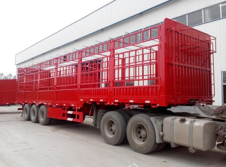 厂家直销供应仓栏运输半挂车,低平板挂车高强钢材