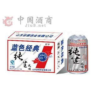 慕康蓝色经典纯生320mlx24  山东啤酒