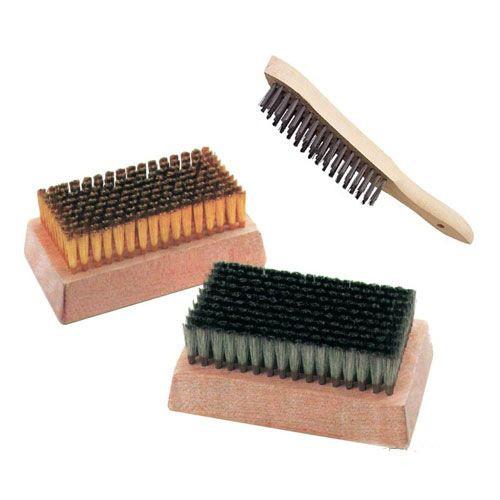 网纹辊清洗木柄钢丝刷。