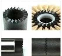 凹凸槽滚筒组合式毛刷