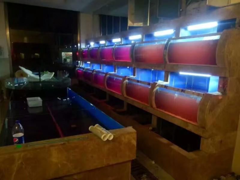 上海渤海 鱼缸 海鲜鱼缸 鱼缸定做  亚克力鱼缸