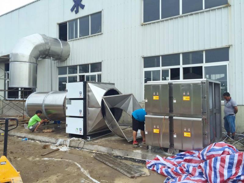 厨房油烟净化器案例--万凯环保 废气处理设备