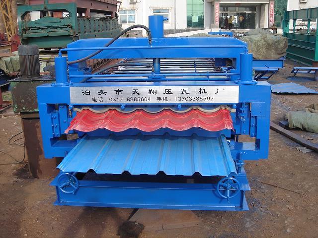 琉璃瓦双层压瓦机 双层琉璃瓦压瓦机 双层压瓦机定做 双层压瓦机生产厂家