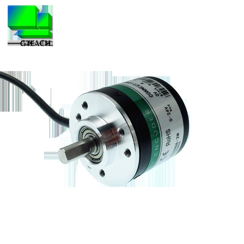 光电增量式旋转编码器高精度抗干扰600脉冲AB实心轴5-24V质保