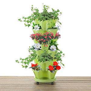 锦秀 立体居家多层可叠加盆栽花盆加厚塑料阳台种菜种花草莓花盆