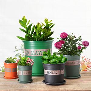 绿植树脂塑料花盆正品加仑盆阳台种植盆多肉绿萝盆栽种菜盆带托盘
