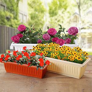 长方形种菜盆塑料长条花盆阳台种菜盆托盘花卉花架花槽种植箱