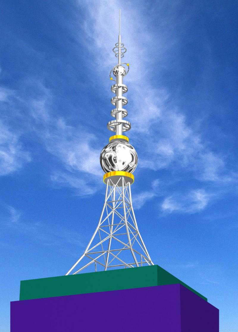信丰公司设计楼顶工艺装饰塔制作安装