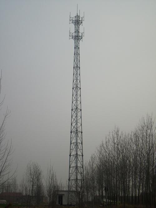 信丰供应直销新型三管无缝通信塔制作安装