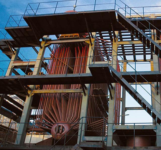新型双旋涡低速循环流化床锅炉 低倍率循环高流化床锅炉