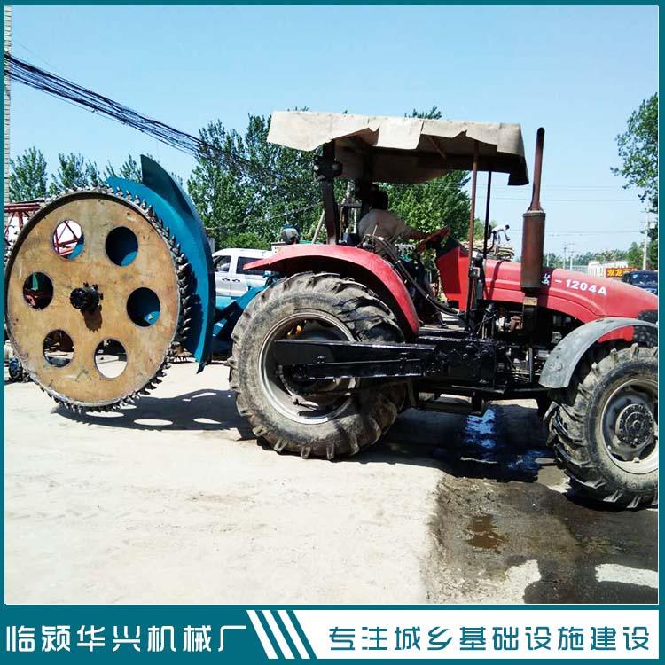 华兴拖拉机带河南圆盘开沟机   管道开沟机厂家  水泥路面开沟机