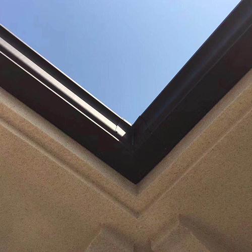 厂家生产别墅排水用彩铝成品天沟排水槽质优价廉规格齐全 天沟