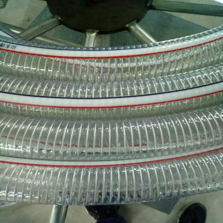 丰运管业供应内径25-252mmPVC透明钢丝螺旋增强软管