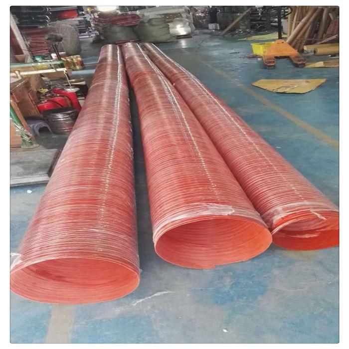 山东丰运管业供应耐温300度红色矽硅胶风管