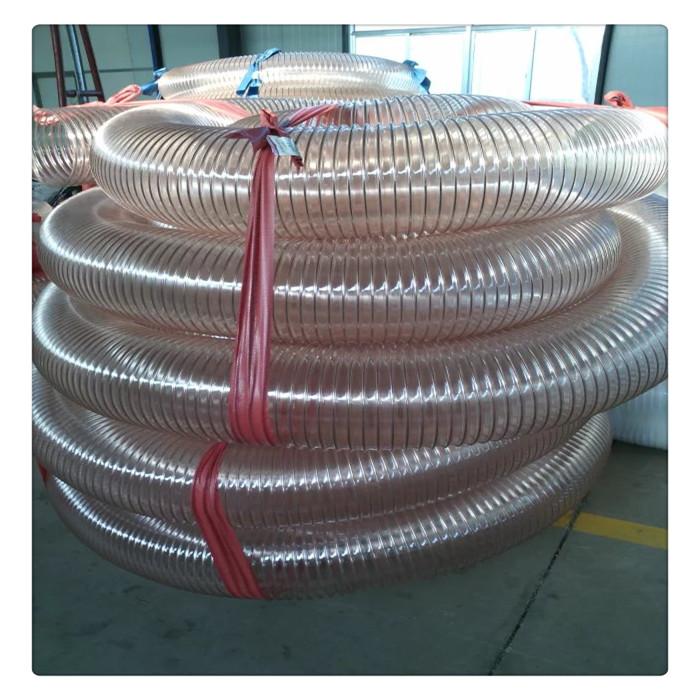 山东丰运管业定做批发各种规格PU钢丝伸缩管扫地车吸尘管