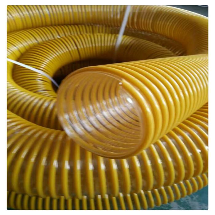 山东丰运管业供应粉尘PU塑筋耐磨软管PU透明塑料吸尘软管