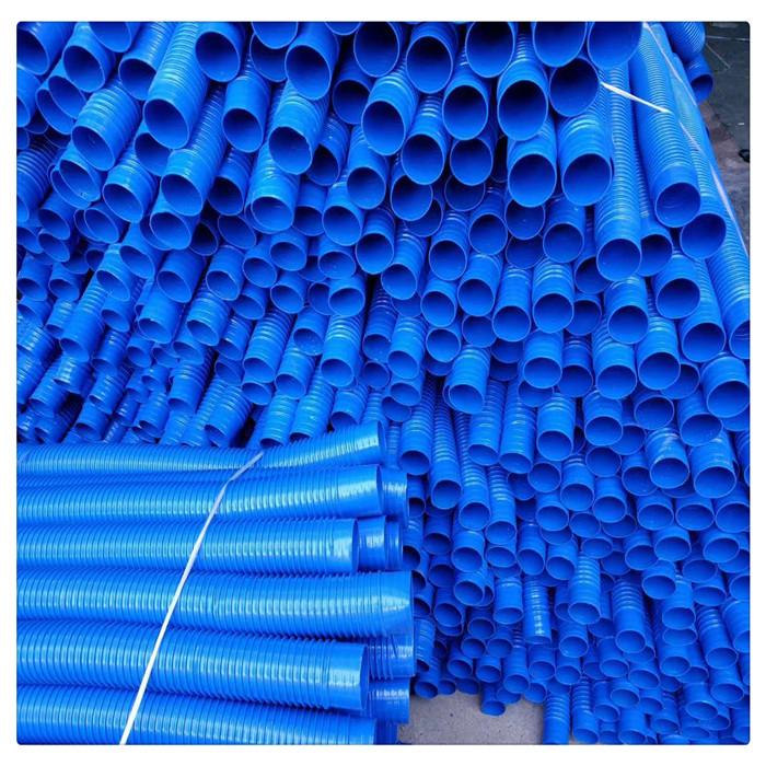 山东丰运管业供应PVC加强筋除尘波风管纺织机械塑料通风管