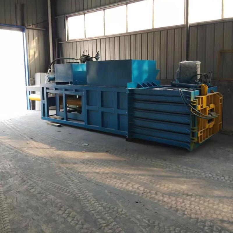 打包机120吨卧式秸秆边角料液压打包机金属铁皮卧式压缩捆包机