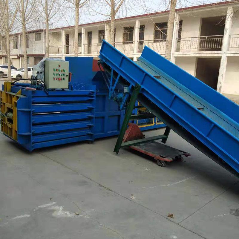 生产定做多尺寸稻草液压打包机 质优价廉80吨卧式液压打包机