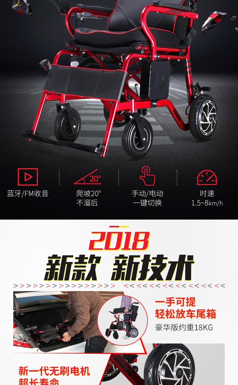 轻便型电动轮椅能上飞机的电动轮椅