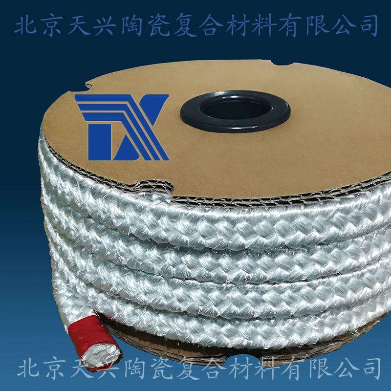 天兴 玻璃纤维方编绳 玻纤绳玻纤盘根密封绳耐火绳