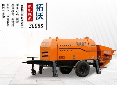 混凝土地泵适合桥面施工,拓沃重工小型输送泵3008S
