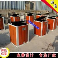 北京户外垃圾桶分类垃圾桶双桶不锈钢钢木果皮箱生产厂家三色桶