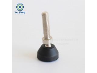 厂家直销黑色尼龙万向调节 螺杆碳钢全自动电子料盘贴标机调节脚