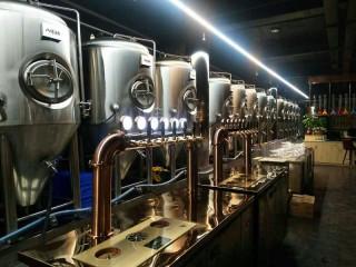 中小型精啤酒设备价格,精酿啤酒工厂投资预算,啤酒设备厂家
