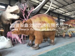仿真动物/会动会叫的动物模型/高度还原的机械仿真动物/仿真雕齿兽