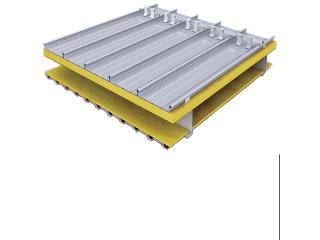 1.2厚65/430型深灰氟碳漆铝镁锰高立边屋面板