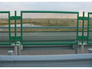 供应桥梁防眩网防抛网 菱形钢板网护栏 高速公路防抛网