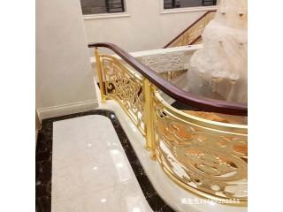 K金铜艺楼梯扶手厂家全国各地接单