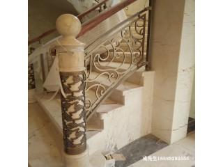 镀金别墅铜艺楼梯扶手安装价格