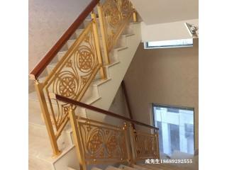 组装别墅铝艺楼梯 铝雕刻护栏上门安装