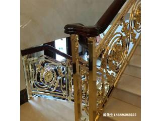 防撞铝艺楼梯护栏 品牌别墅楼梯护栏供应商