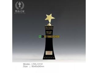 五角星奖杯 行业表彰奖杯 先进技术工作者奖杯 公司年会奖杯定做
