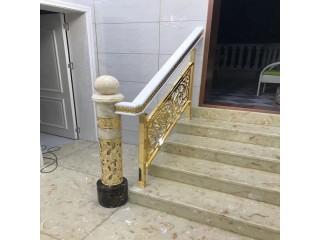 上海厂家 铜雕刻楼梯简直是为别墅量身定做的装饰