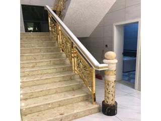 杭州厂家有推荐 镀金铜楼梯点缀不羁人生