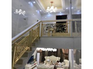大连欧式铜艺镀金楼梯栏杆用来提升家装颜值