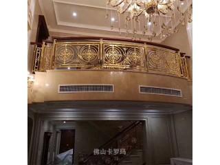 别墅装修欧式楼梯 铜雕刻楼梯是一个很好的选择