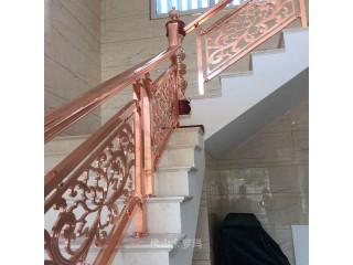 纯铜楼梯安装 你要知道的2021年流行铜扶手款式