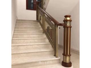 攀枝花中式铜艺楼梯栏杆我看到了霸气的生活