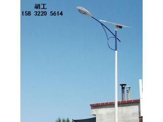 临漳太阳能led路灯双灯头学校安装配置
